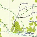 Mapa de la ruta: Alcornocal de Zamayón